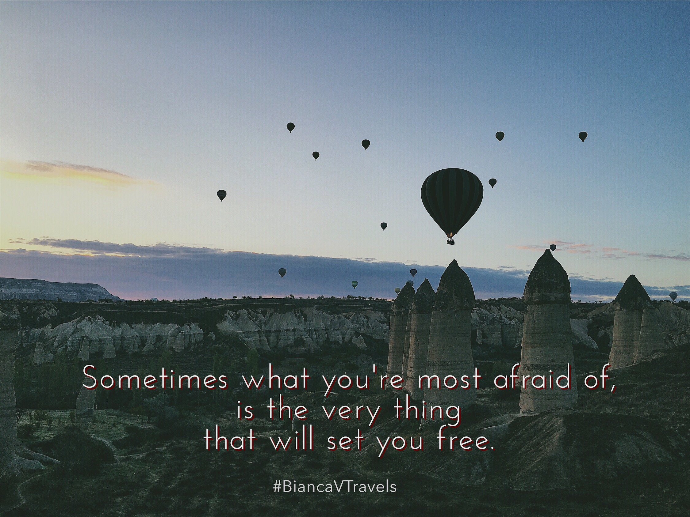 Hot Air Balloon Capadoccia Quote