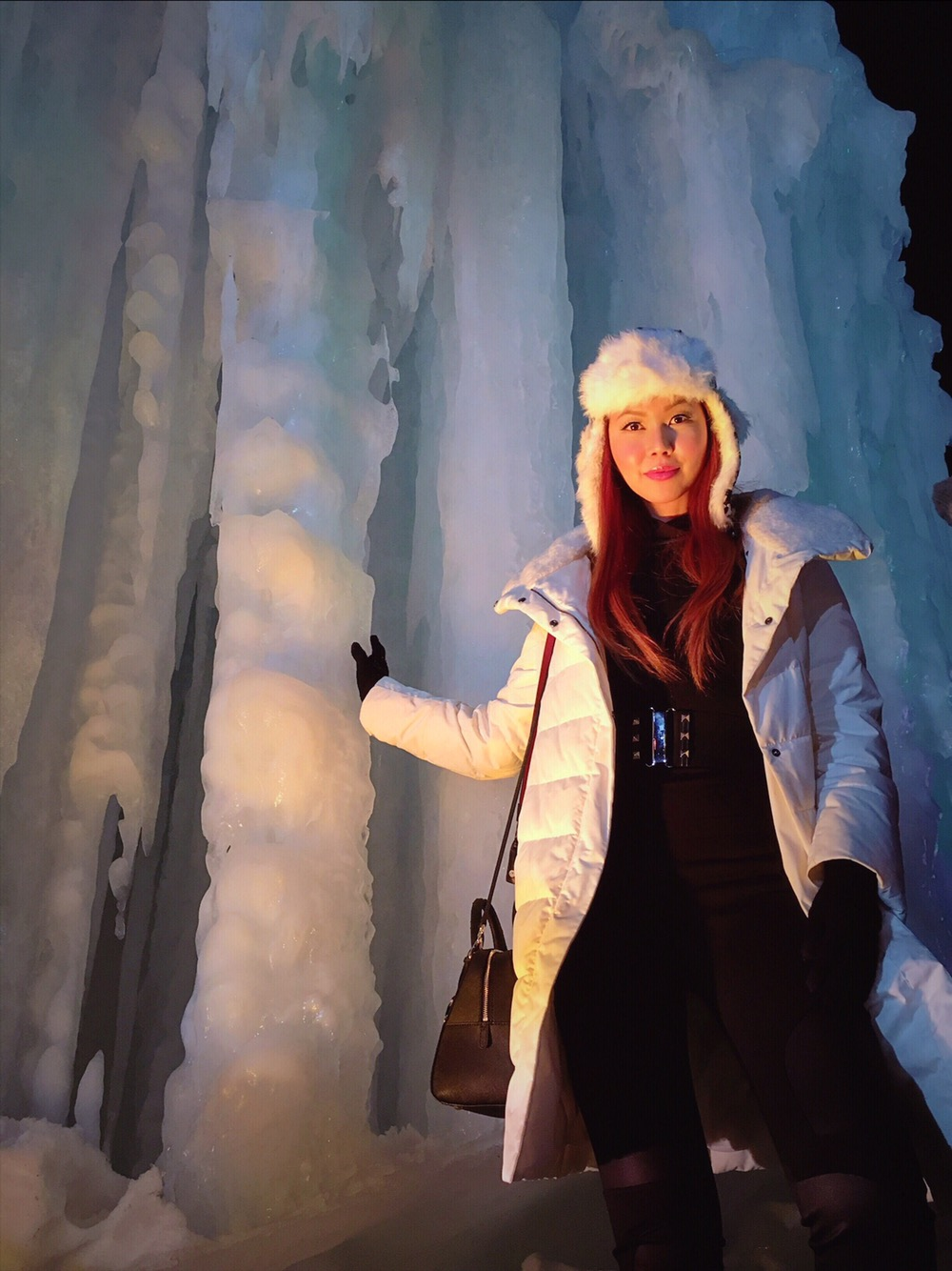 Bianca Valerio at Sounkyo Hot Springs Ice Festival