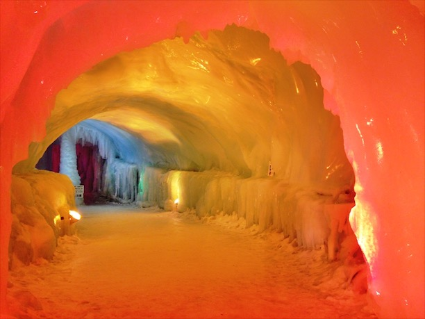 Sounkyo Hot Springs Ice Festival Cave
