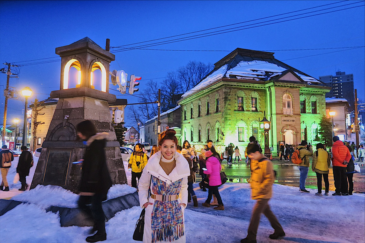 Bianca Valerio at Old couple in love at Otaru Snow Light Path Festival