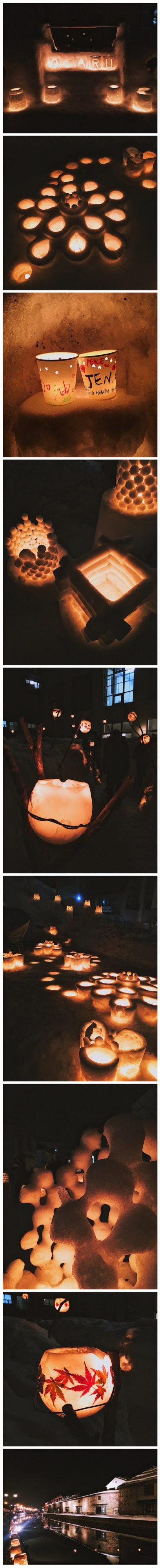 Otaru Snow Light Path Festival Night Illumination