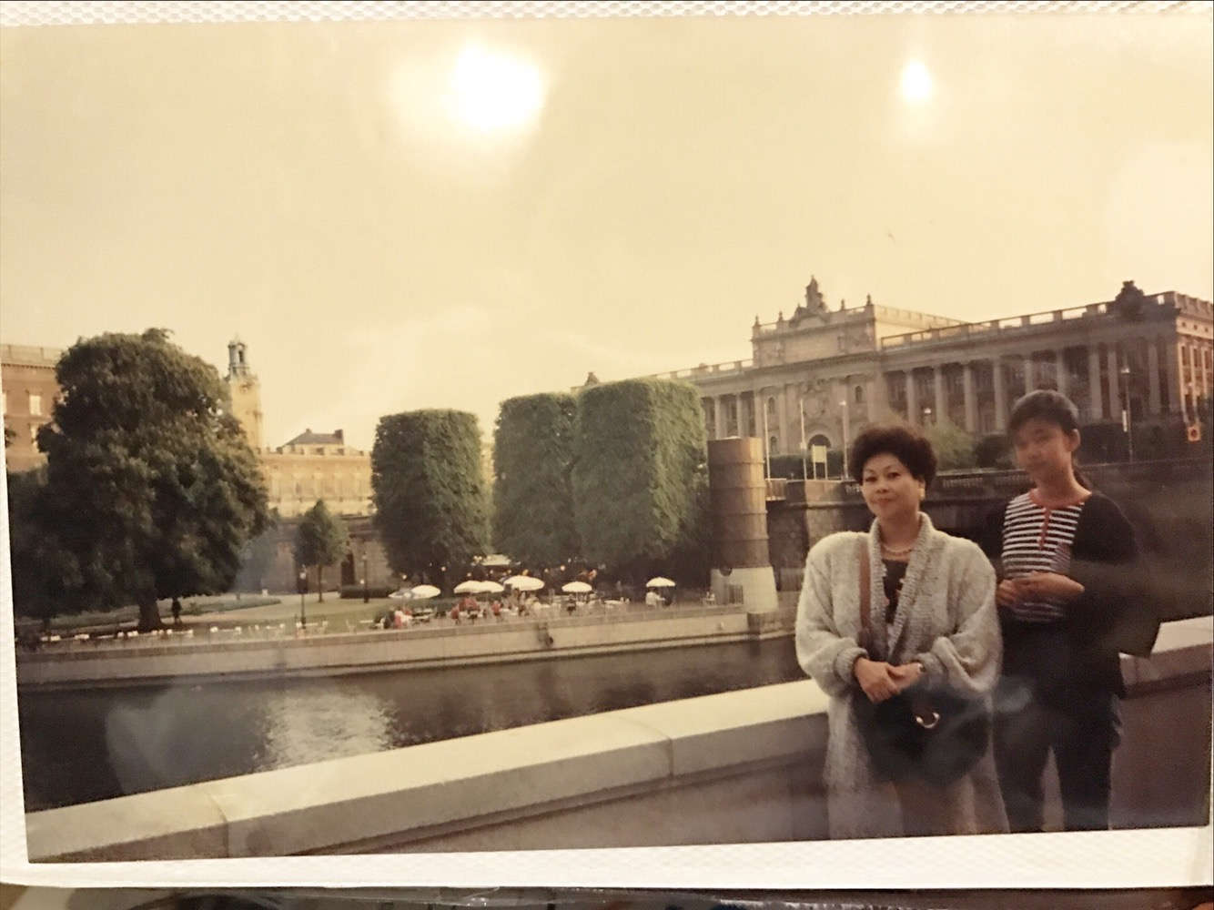Teenager Bianca Valerio and mom in Stockholm Sweden