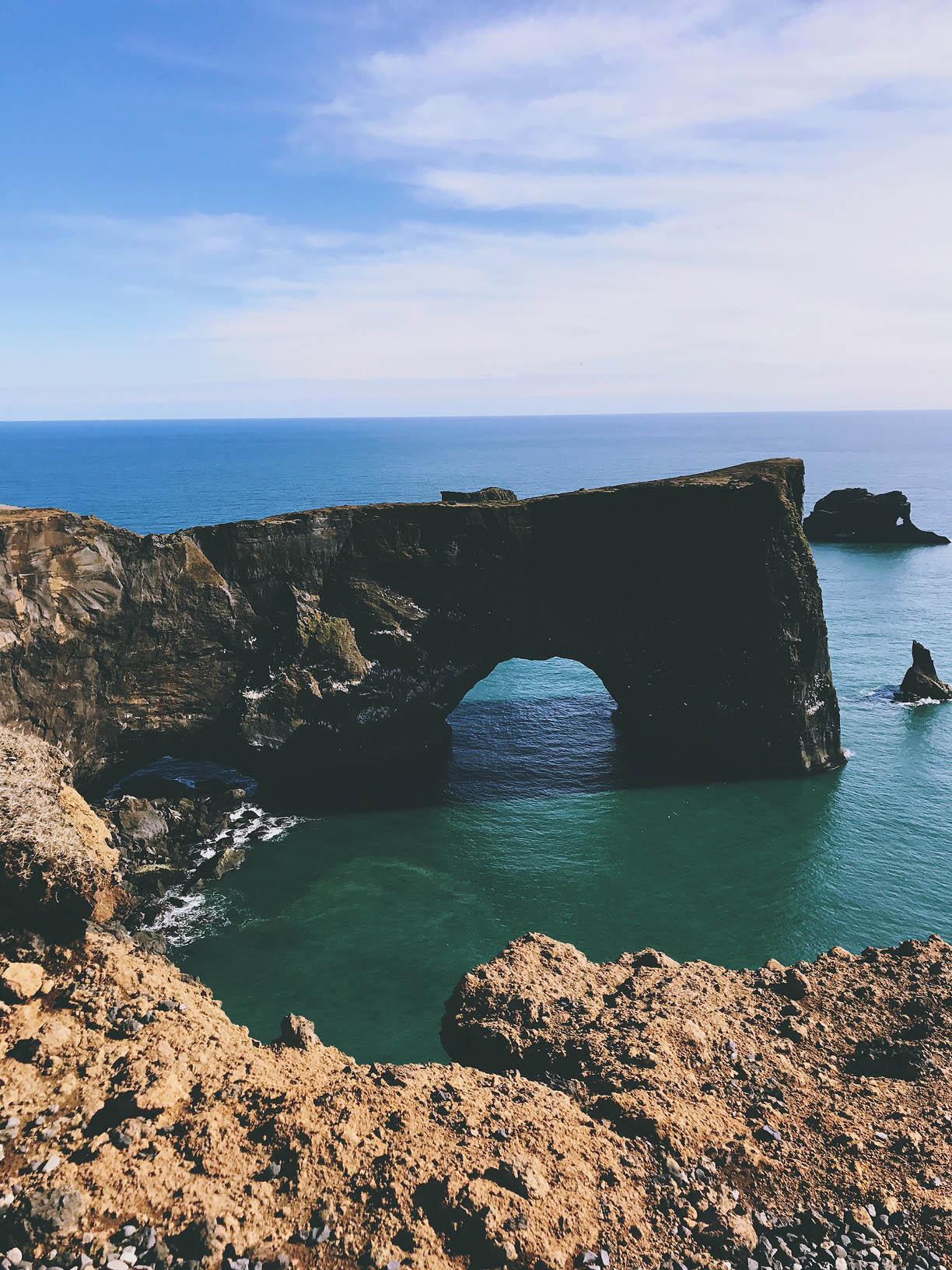 Key Hole South Coast Iceland