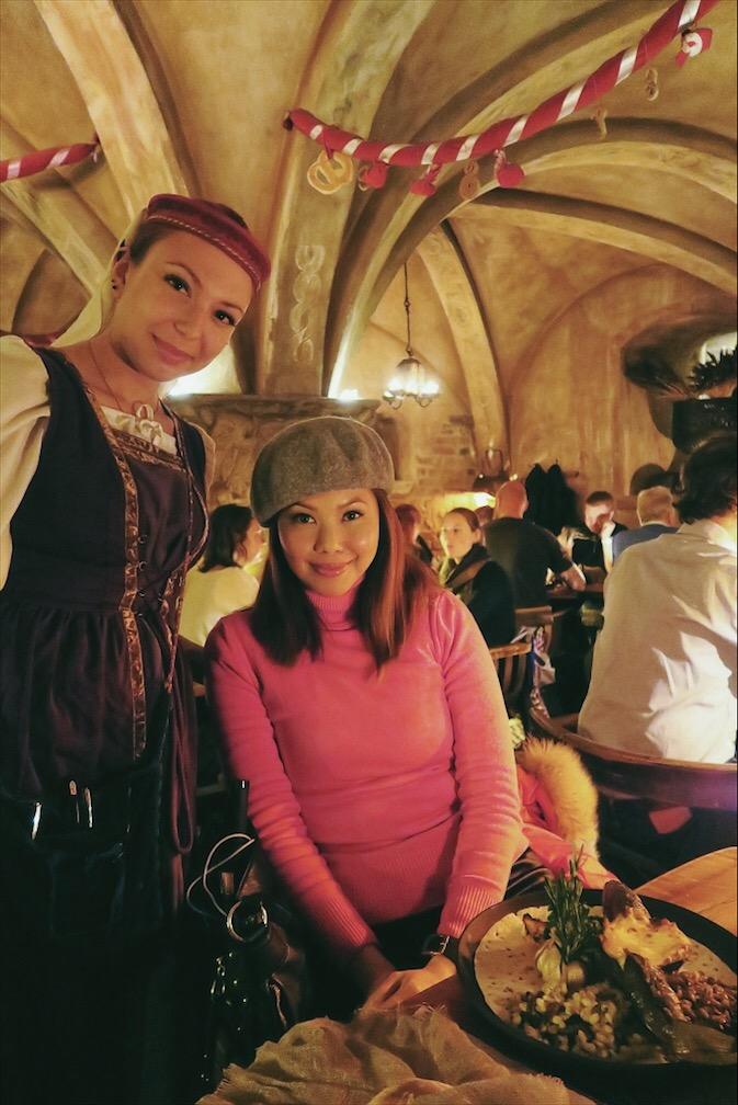 Bianca Valerio Rozengrals Medieval Restaurant Riga Latvia