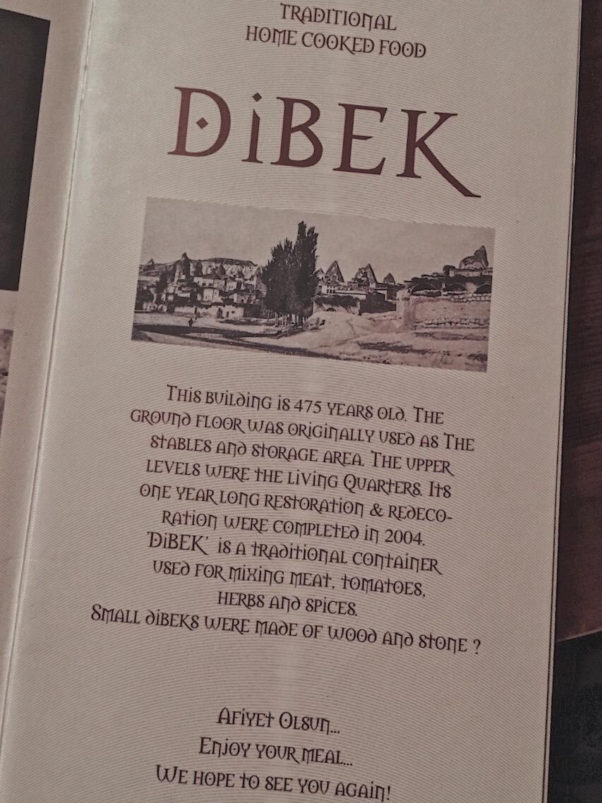Dibek Restaurant Cappadocia turkey