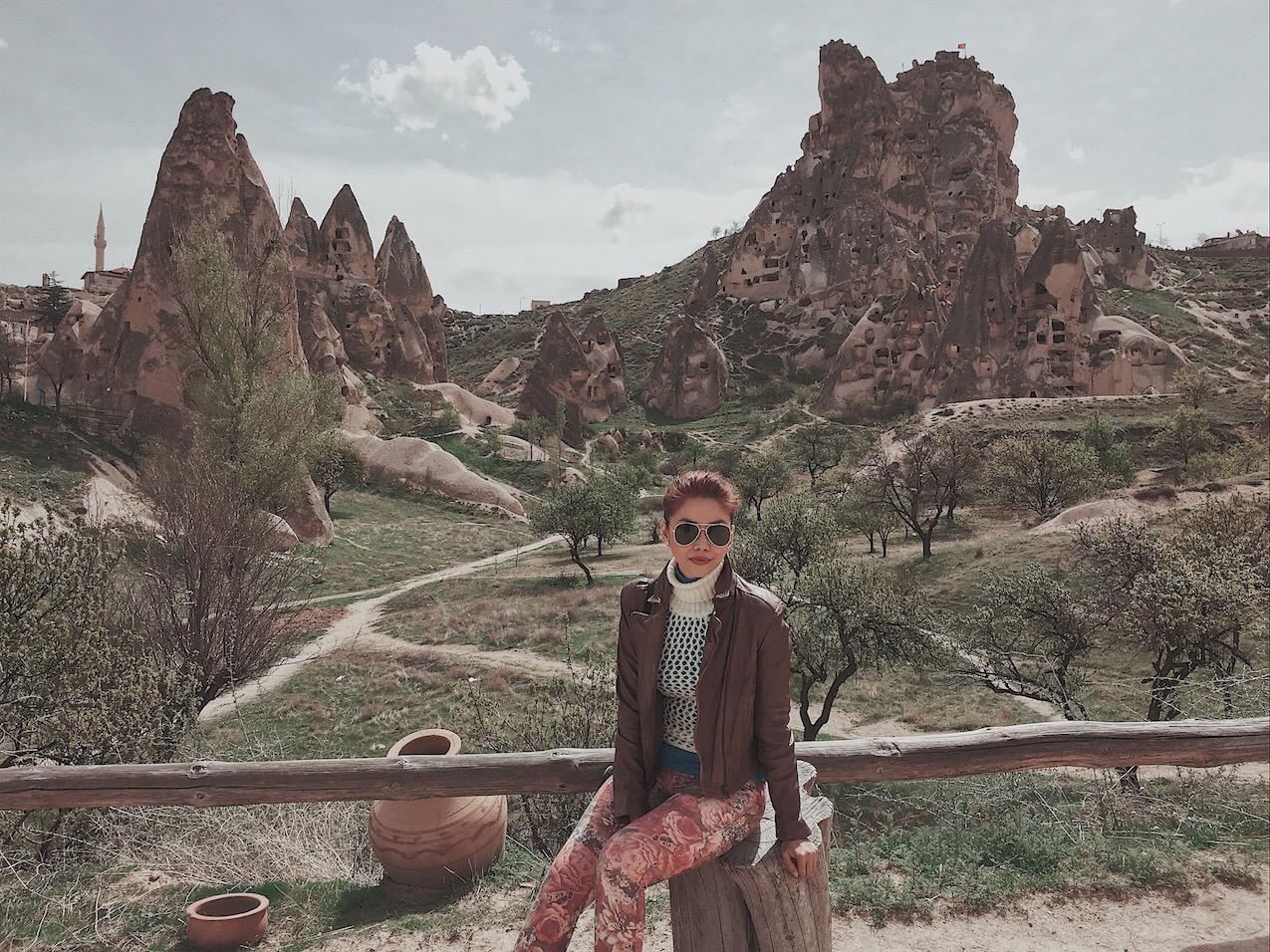 Bianca valerio Cappadocia turkey uchisar castle