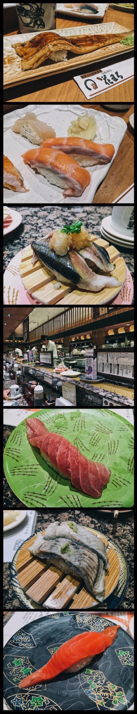 Hanamaru Rotation Sushi Sapporo Food