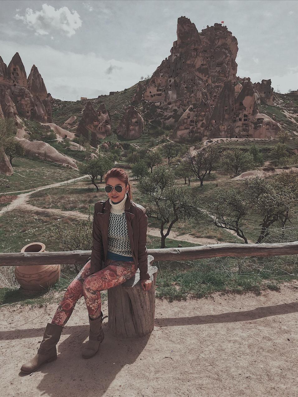 Bianca Valerio uchisar castle Cappadocia turkey