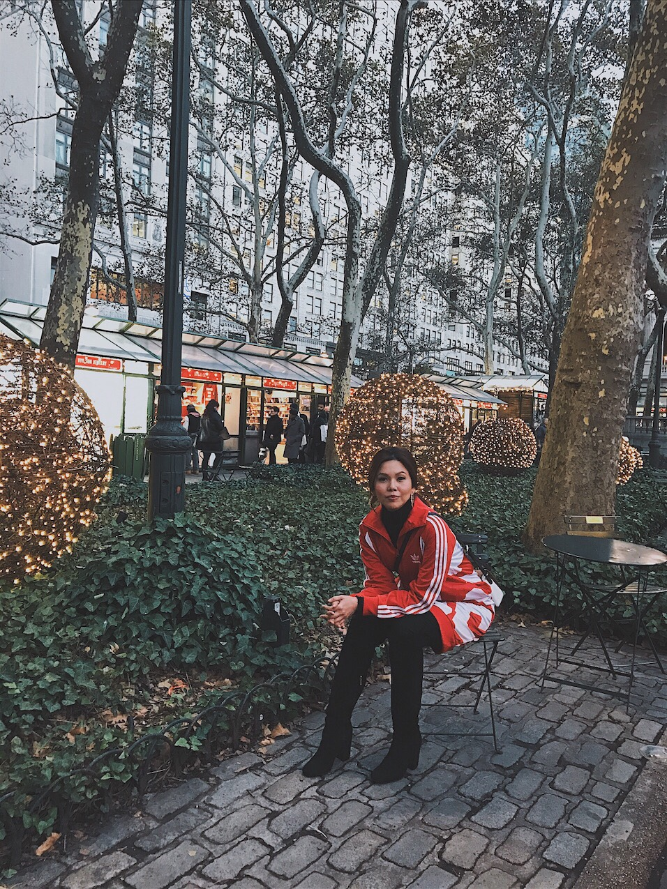 Bianca valerio Christmas Village Bryant Park New York