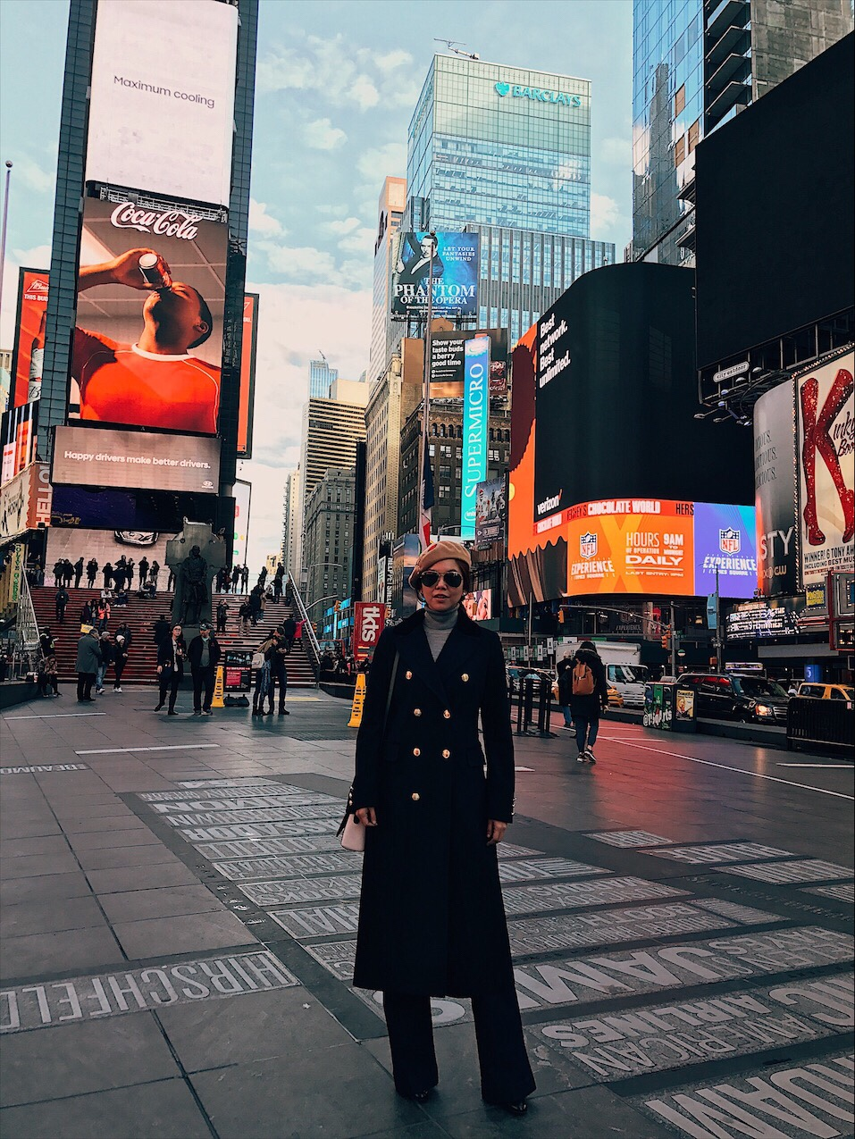 Bianca Valerio New York Times Square