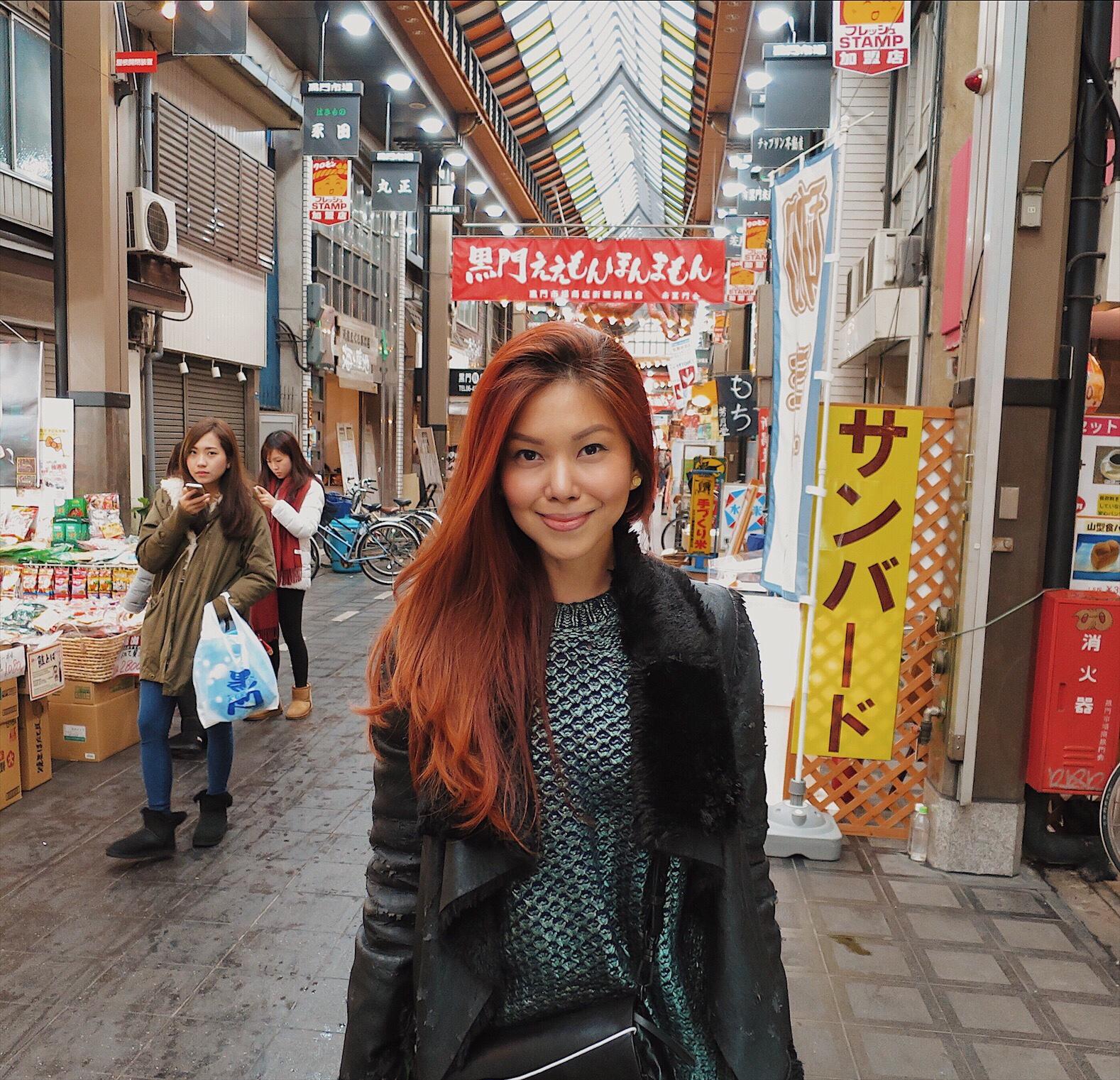 Bianca Valerio Kuromon Ichiba Osaka Travel Guide