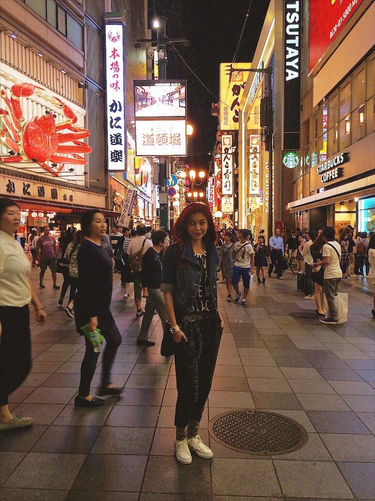 Bianca Valerio Dōtonbori Osaka TrVel Guide