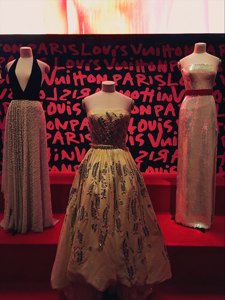 Louis Vuitton Voyage Exhibit New York Alicia Vikander gown
