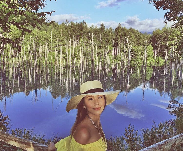 Bianca Valerio Shirogane Blue Pond Biei Hokkaido