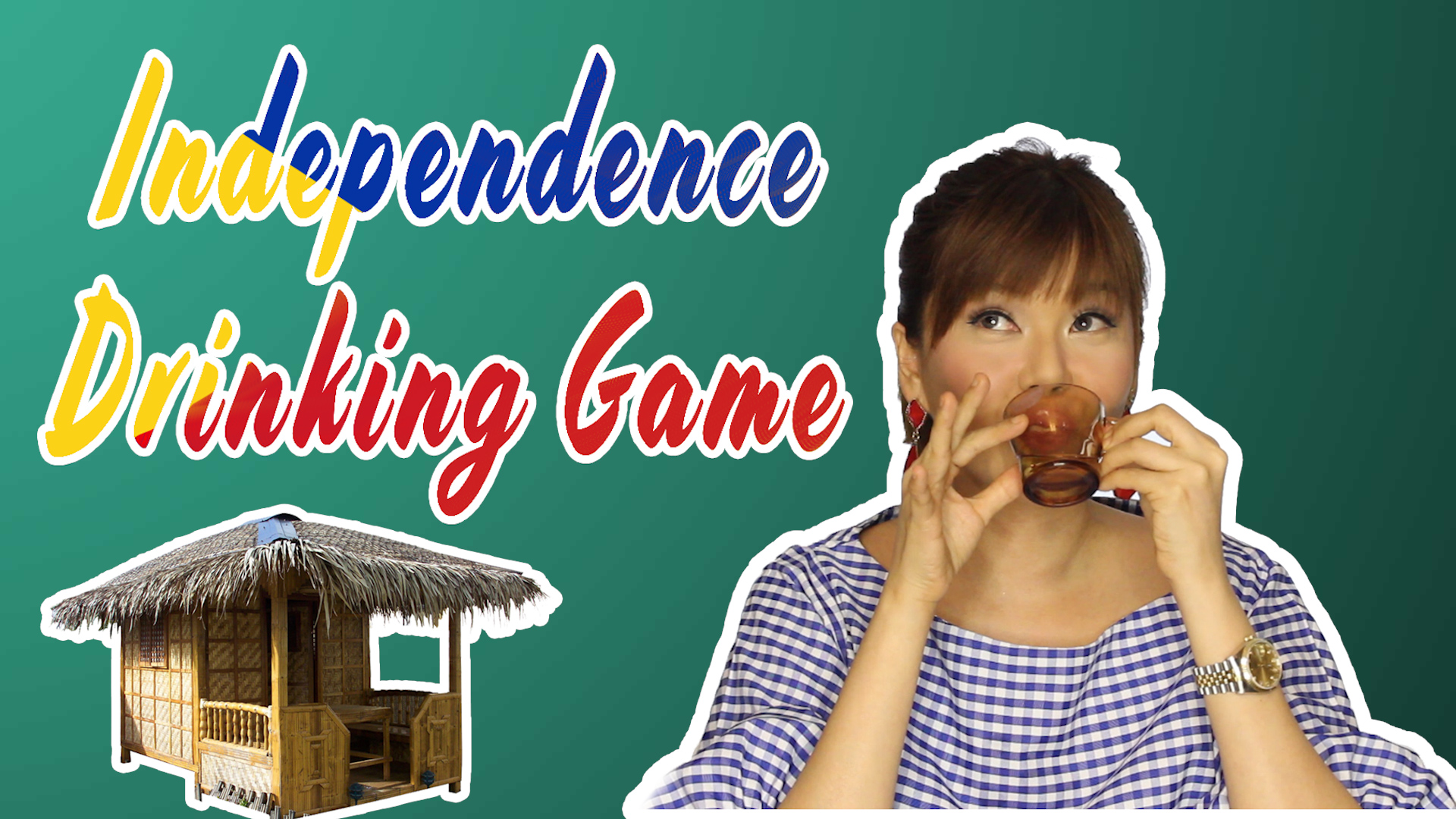 Bianca Valerio Malacanang palace Philippines Drinking Game Challenge
